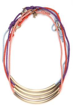 An Editor-Approved V-Day Wish List (Hint, Hint!) #refinery29  http://www.refinery29.com/valentines-day-gift-ideas#slide1  Fun, but not overly fancy — this layered necklace fits our dream-date description perfectly. Bauble Bar Tribal Chroma Strand, $96, available at Bauble Bar.