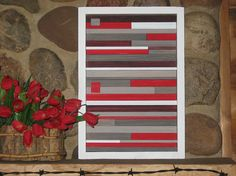 Modern Wood Sculpture  Wall Art by RusticModernDesigns on Etsy