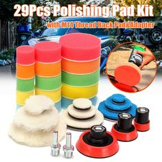 Accessory Polishing Tools Round Polisher Buffing Kit 3 Inch Plate Backing Pad