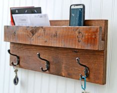 Rustic Design Shelf with Iron Pipe Towel Rack Bathroom by Toolbox