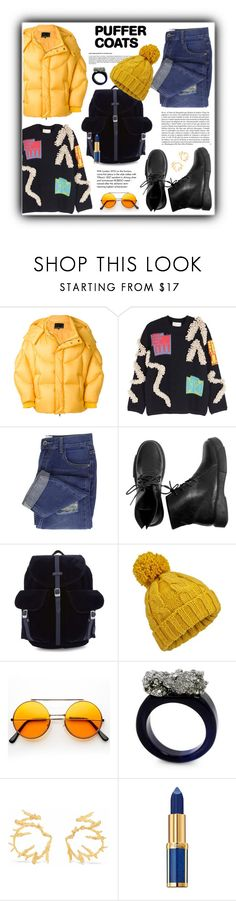 """""""#1462@"""" by koi-beauty ❤ liked on Polyvore featuring Chen Peng, Peter Pilotto, Herschel Supply Co., Miss Selfridge, Whiteley, Tiffany & Co., NOVICA, Balmain and puffercoats"""