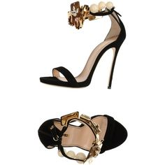 Dsquared2 Sandals (£354) ❤ liked on Polyvore featuring shoes, sandals, black, round cap, zipper sandals, black shoes, spiked heel shoes and dsquared2 shoes