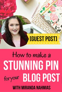 Today, I'm going to teach you exactly how to create awesome pins for your blog posts by following the basic rules of graphic design and making use of the free program Canva. << LadyBossLeague << Miranda Nahmias