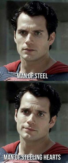 Man of Steel - Henry Cavill Superman Man Of Steel, Batman Vs Superman, Henry Cavill, Love Henry, Cute Celebrities, Celebs, Dc Movies, Matthew Mcconaughey, Most Beautiful Man