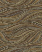 Calypso Cocoa Tan Brown Blue Wavey Upholstery Fabric