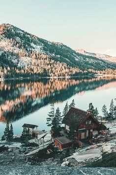 Cabin near the water