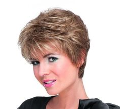 Viva Monofilament Hair Power Ladies Wig By Ellen Wille. A beautiful sweep style and a tapered neck; a striking and modern cut wig. This Ellen Wille piece has a monofilament construction that offers a lot of comfort. Pixie Hairstyles, Straight Hairstyles, Monofilament Wigs, Affordable Wigs, Wigs Online, Short Wigs, Womens Wigs, Wig Cap, Synthetic Hair