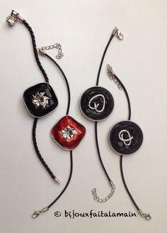 Bracelets fait avec des capsules de Nespresso. http://bijouxfaitalamain13.webnode.fr/