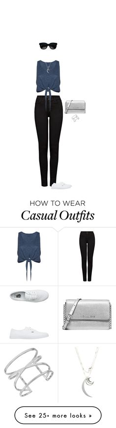 """Simply casual"" by blueeyed-dreamer on Polyvore featuring J Brand, Alice + Olivia, Vans, Michael Kors, Vince Camuto, Balenciaga, Jennifer Zeuner, casual, jeans and whitesneakers"