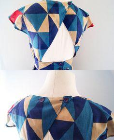 80s geometric dress