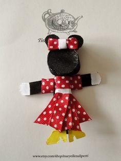 Minnie Mouse Ribbon Sculpture Hair Clip by maryellenaliperti, $7.00