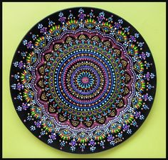 Hand painted dot mandala...