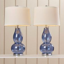 """28.5"""" H Table Lamp with Drum Shade (Set of 2)"""
