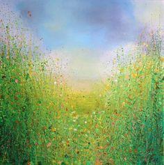 "Saatchi Art Artist Sandy Dooley; Painting, ""Green and Blue Landscape  (sold)"" #art"