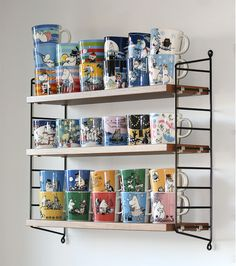 pientä mutta suurta : Intohimona muumimukit / Passion for moomin mugs Nordic Interior, Interior And Exterior, Moomin House, Mug Storage, Moomin Mugs, Cozy Room, Interior Design Inspiration, Sweet Home, Room Decor