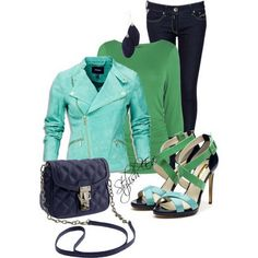 Stylish Outfits for Women | Blue-Winter-2013-Outfits-for-Women-by-Stylish-Eve_11