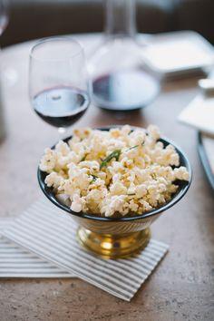 Olive Oil, Rosemary, Sea Salt + Parmesan Popcorn