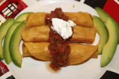 Copycat Taco Cabana Shredded Chicken Flautas...Aria LOVED these in Texas!