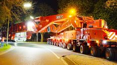 A 95 meters long and overall 592 tons heavy formation transported a 260 tons heavy transformer from Leer to a distribution station near Conneforde, Germany. ...