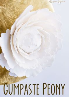 A video tutorial for making your own gumpaste peony blossoms. | Ashlee Marie | Wedding Cake | Gumpaste Flowers | Cake Flowers | Cake Decorating | #ashleemarie #weddingcake #cakedecorating #edibleflowers #wedding