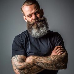 Beards. Men. Going Gray. Ink. Photography.