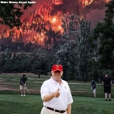 Yup, the whole freaking country can be on fire and this pos couldn't care less. Abhor this asswipe.