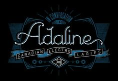 """Graphic for Adaline's """"In Conversation"""" podcast on CBC Radio 3, with a """"Canadian electro ladies"""" theme."""
