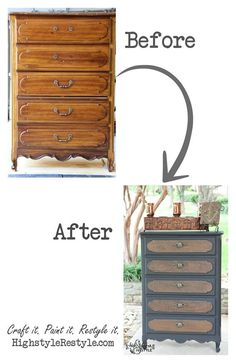 Modern Masters Antique Bronze Metallic Paint helped High Style Restyle transform this set of drawers. Beautiful!