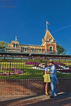 Disney World Engagement Photo