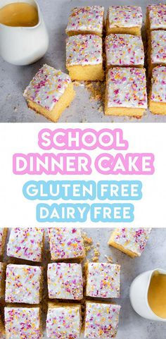 Gluten Free School Dinner Sponge Cake Recipe (dairy free, low FODMAP) My gluten free school dinner sponge cake recipe is guaranteed to make you feel like a kid all over again – no time machine required. Plus, a little custard… Continue Reading → Gluten Free Cakes, Gluten Free Desserts, Gluten Free Sponge Cake, Lactose Free Recipes, Dairy Free Recipes Toddlers, Gluten Free Dinners, Dutch Desserts, Gluten Free Food List, Dairy Free Treats