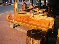Log Furniture by davell, via Flickr