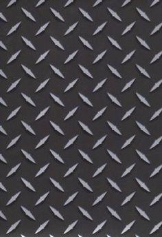 black?  sc 1 st  Pinterest & Diamond Plate Metallic Silver Wallpaper | man cave | Pinterest ...