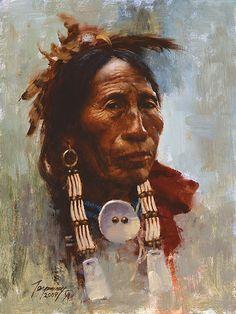 Sioux Elder By Howard Terpning
