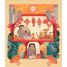 💮💮⛩ Kissaten Solitude, Calm, Symbols, Japanese, Illustration, Prints, Fictional Characters, Instagram, Japanese Language