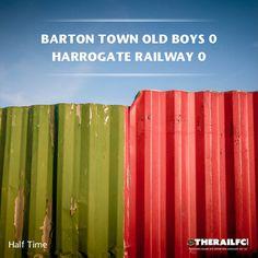 HT: Barton Town 0-0 Harrogate Railway    @therailfc @Howell_RM
