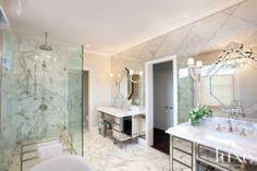 A Glamorous Master Bath   Bathrooms   LUXE Source