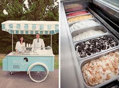 A gelato bar, or cart.... So fun!