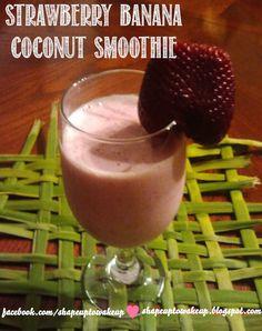Healthy Strawberry Banana Coconut Smoothie