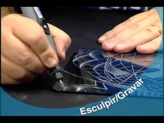 Dremel to etch glass