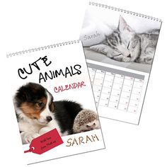 Personalised Cute Animals Calendar  from Personalised Gifts Shop - ONLY £12.95