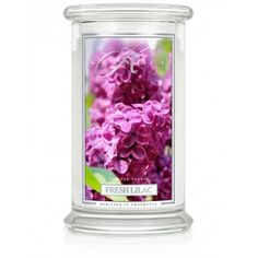 Kringle Candle - FRESH LILAC Large  2 Wick - A soft, magical floral recalling the very essence of springtime, our delicate Fresh Lilac is simple, pure and honest.