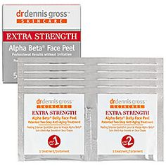 Dr. Dennis Gross Skincare - Extra Strength Alpha Beta® Face Peel  #sephora (Sue says this works well for her.)