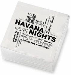 Havana Nights cocktail napkins. 48 ct. by Sentir Cubano,  Miami Store, http://www.amazon.com/dp/B00B7QZXJE/ref=cm_sw_r_pi_dp_9njSrb1C2HDMK