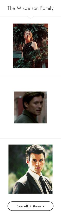 """""""The Mikaelson Family"""" by adorablequeen on Polyvore featuring finn mikaelson, tvd, elijah mikaelson, the originals, vampire diaries, klaus and claire holt"""