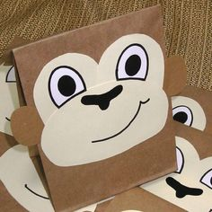 I love these!  Monkey craft.