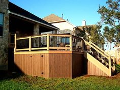 PVC Deck Skirting | Solid Board Skirting with Crawl Space - Decks Photo Gallery ...