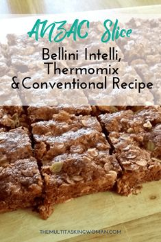 ANZAC Slice Recipe for the Bellini Intelli Kitchenmaster (Also suits Thermomix & Conventional ) | A quintessential Australian sweet treat, I've transformed the humble ANZAC biscuit into a slice. #anzacday #anzac #sliceandbake #sweets #sweettreats #baked