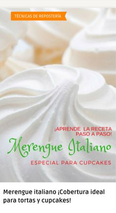 Italian meringue perfect recipe Everything you have to sa .- Italian meringue a topping / filling that every pastry should keep in mind when it comes to the best cake decorations Sugar Cookie Recipe Easy, Easy Cookie Recipes, Italian Meringue, Pastry And Bakery, Pavlova, Cakes And More, Cake Pops, Cupcake Cakes, Cake Decorating
