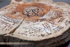 Rustic Guest Book - Slice of tree