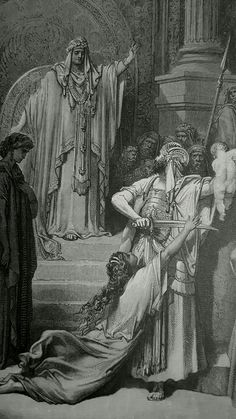 Phillip Medhurst presents detail 088/241 Gustave Doré Bible Judgment of Solomon 1 Kings 3:25-27
